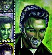 04) August 2011, Öl a.Lw., 70x70, Elvis Presley