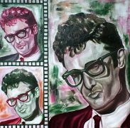 06) September 2011, Öl a.Lw., 70x70, Buddy Holly