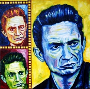 07) September 2011,Öl a.Lw. 70x70, Johnny Cash