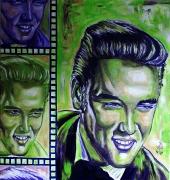 11) November 2011,Öl a.Lw., 60x60, Elvis Presley
