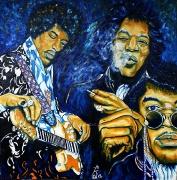 03) Februar 2012, Öl a.Lw., 100x100, Jimi Hendrix