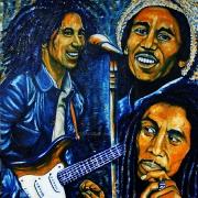 04) März 2012, Öl a.Lw., 100x100, Bob Marley