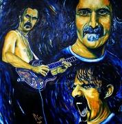 05) März 2012, Öl a.Lw., 100x100, Frank Zappa