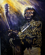 09) Juni 2012, Öl a. Lw., 100x80, Chuck Berry in action