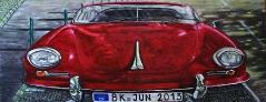 05) Juni 2013, Öl a. Lw., 60x120, mein Porsche fährt ....