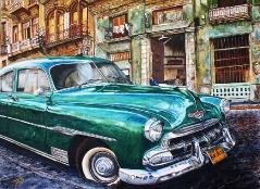 06) August 2013, Öl a.Lw., 100x140, eine letzte Havanna