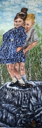 08) Oktober 2013, Öl a. Holz, 154x50, The young Lovers Rückseite