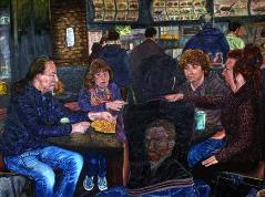 07) Juni 2014, Öl a.Lw., 90x120, Aardappeleter - een huldiging aan V.van Gogh