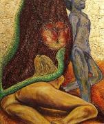12) April 2015, Öl a. Lw., 120x100, Eva und Adam