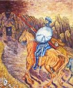 02) Februar 2016, Öl a.Lw., 120x100, Don Quichotte