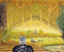 04) Februar 2016, Öl a.Lw., 100x120, orgelgiastische Träumereien