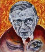 10) April 2016, Öl a.Lw., 61x51,5, Wenn ihr eure Augennicht gebraucht um zu sehen, werdet ihr sie brauchen um zu weinen-J.P.Sartre