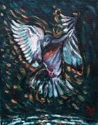 01) Januar 2018, Öl a.Lw., 43,5x34,5, Studie I fliegender Vogel