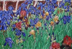 03)Juni,2021,Öl a.Lw.,80x120,Blumen sind das Lächeln der Erde